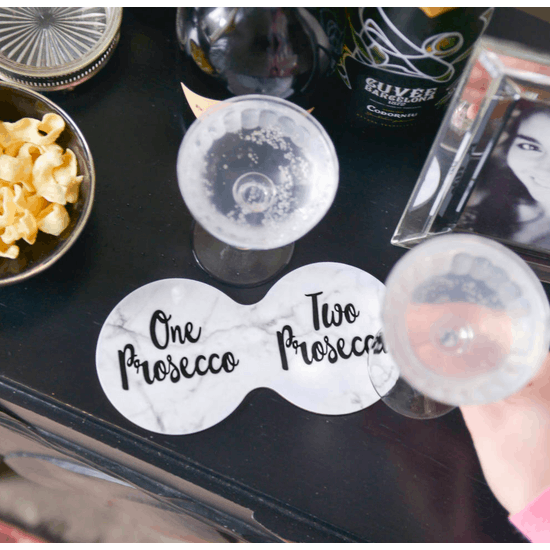 Prosecco Double Coaster