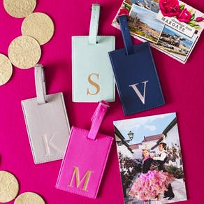 Alphabet Coloured Luggage Tag