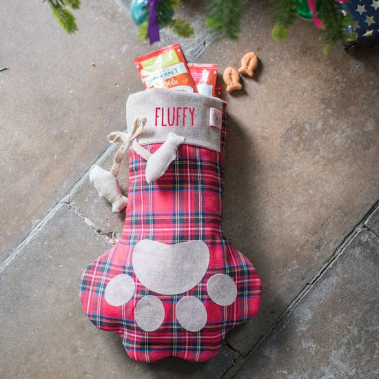 Personalised Cat Hessian Stocking
