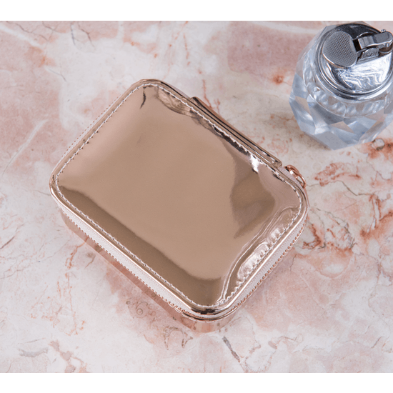 Rose Gold Travel Jewellery Box