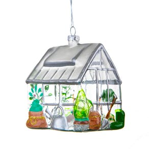 Sweet Glass Green House Bauble