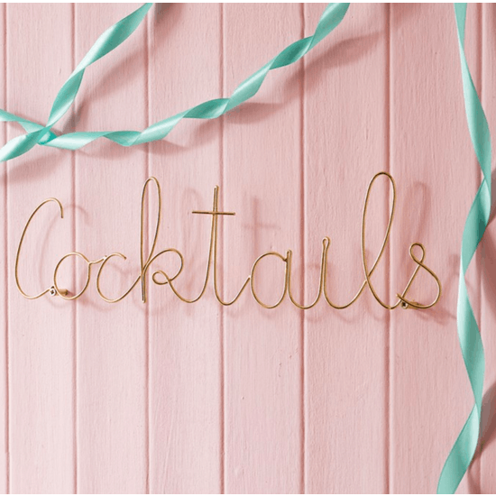 Gold Wire Wall Hanging Words