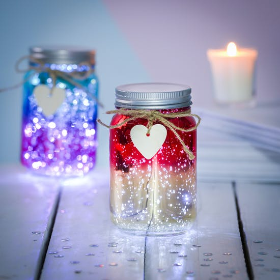 Two Toned Sparkle Jar