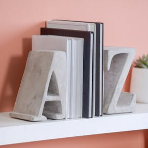 Concrete A Z Bookends