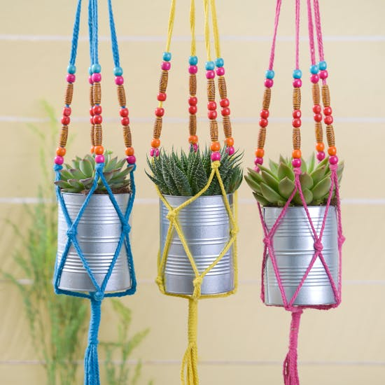 Coloured Macrame Hangers