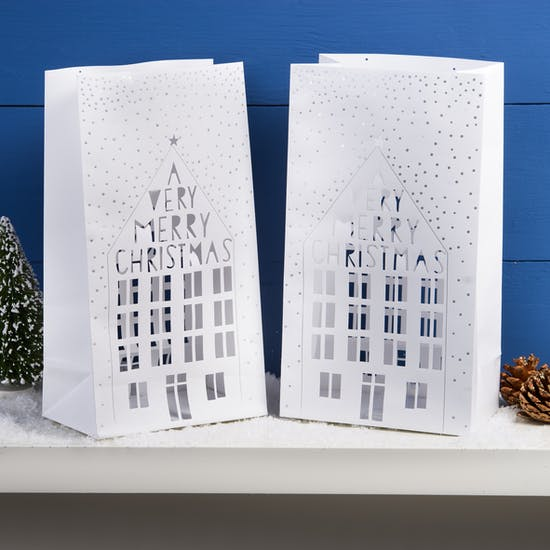 Paper Cut Christmas Lanterns