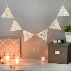 Mr And Mrs Light Up Bunting