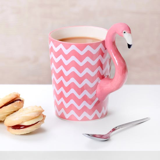 Chevron Tropical Flamingo Mug