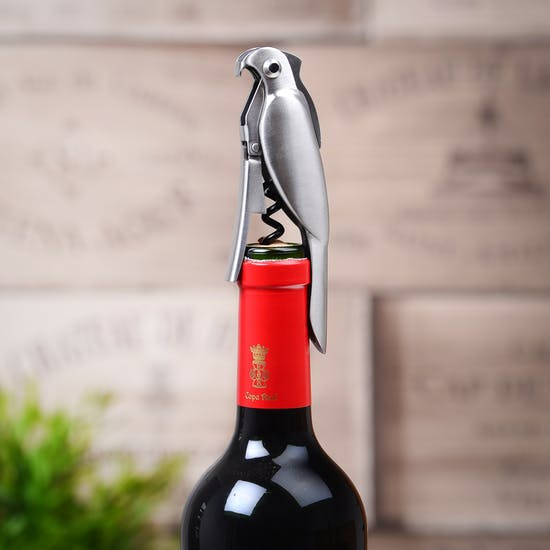 Chrome Corkatoo Bottle Opener And Corkscrew