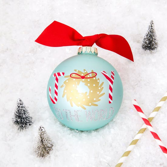 Gift Boxed 'Joy To The World' Bauble