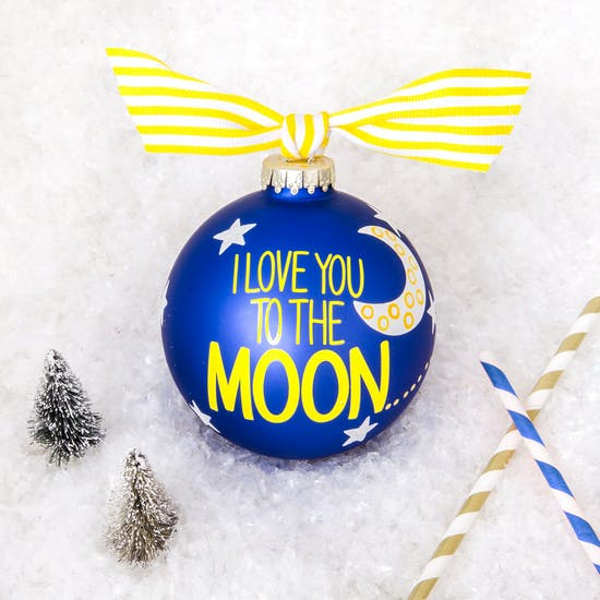 Giant 'Love You To The Moon ' Bauble