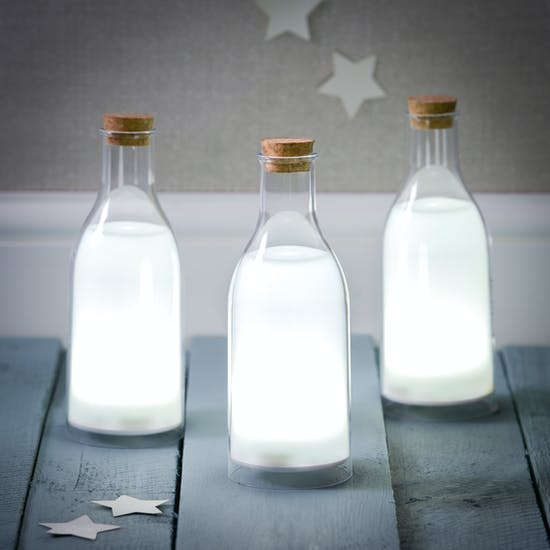 Personalised LED Milk Bottle Light