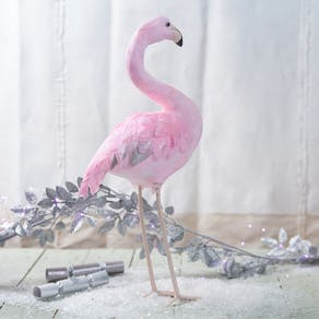 Pink Enchanted Feathered Flamingo