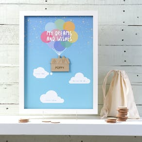 Personalised Wish List Box Frame
