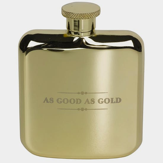 817d2dccc43f8 TED BAKER GOLD HIP FLASK