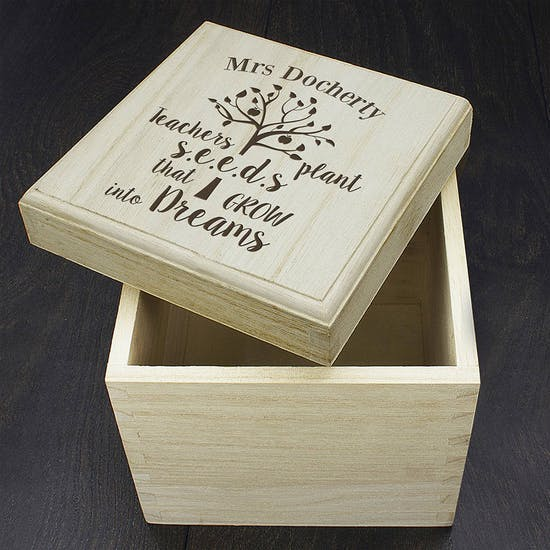 Teachers Plant Seeds… Cube Box
