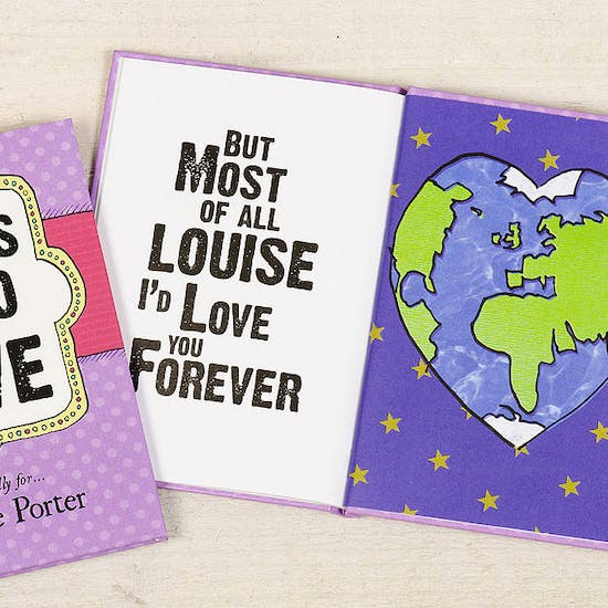 Things I'd Do For Love… Personalised Book
