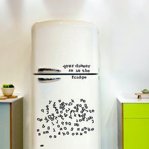 Typewriter Font Fridge Magnets