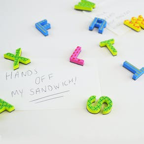 3D Squishy Bright Alphabet Stickers
