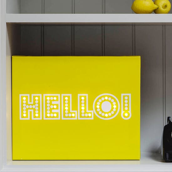 Typographic Illuminated Canvas