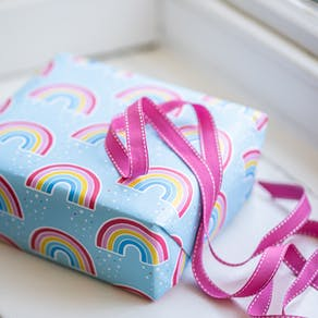 rainbow gift wrap sheets