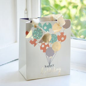 Happy Birthday Balloons Gift Bag
