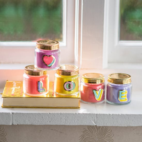 Colour Pop Letter Candles