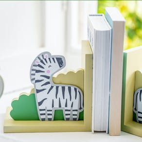 Personalised Zebra Wooden Bookends