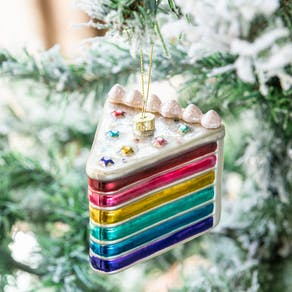 Rainbow Cake Slice Bauble