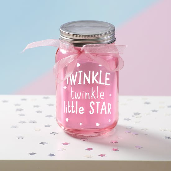 Twinkle Light Up LED Jar