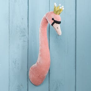 Velveteen Swan Head Wall Decoration