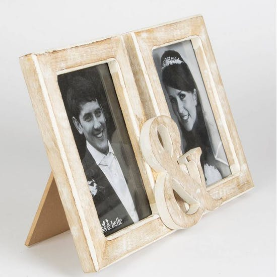 Vintage Double Display Frame With Ampersand