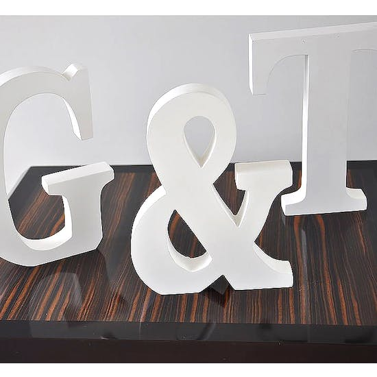 White Wooden Alphabet Letter