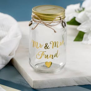 Wedding Savings Glass Jar