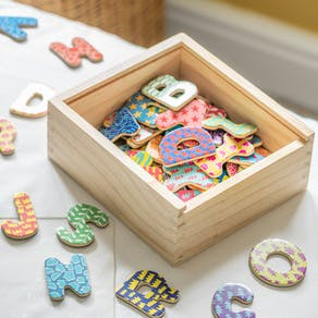 Wooden Alphabet Magnetic Letters