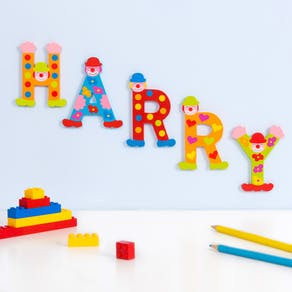 Wooden Alphabet 'Crazy Bird' Letters