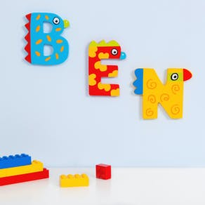 Wooden Alphabet Clown Letters