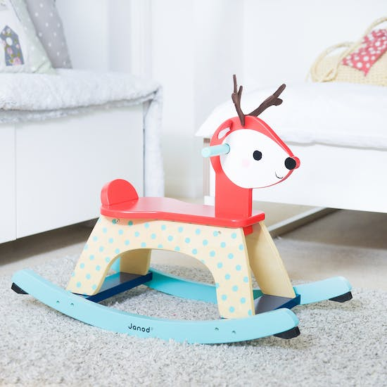 Wooden Reindeer Rocking Toy