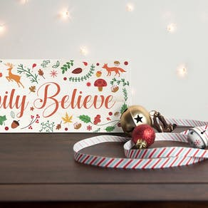 'We Believe' Christmas Decoration