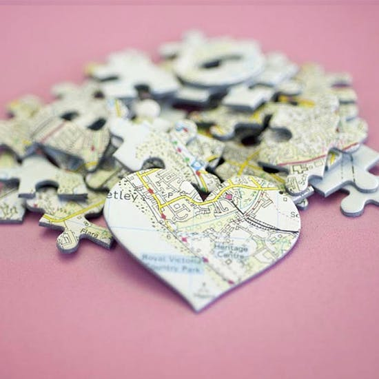 We First Met Here Personalised Jigsaw