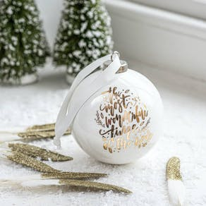 White And Gold Luxury Ceramic Bauble