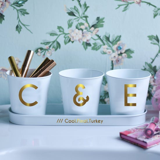 What Three Words Personalised Pots