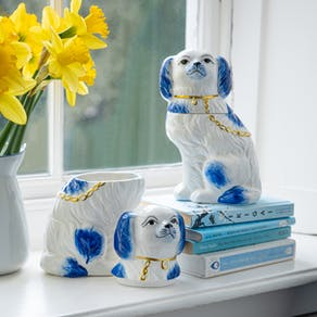 Willow Staffordshire Dog Pots