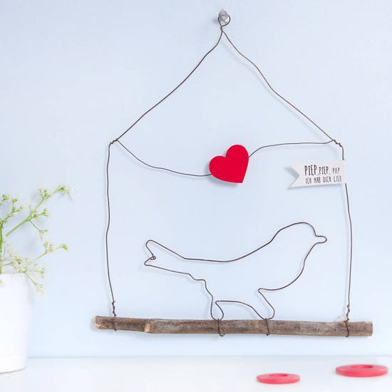 Wire Bird Hanging Decoration