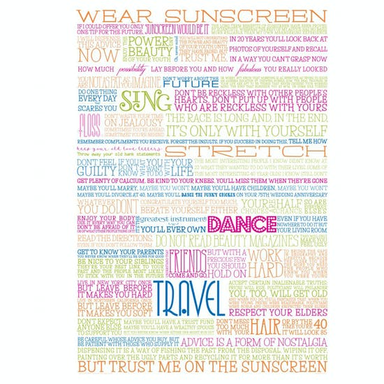 Wear Sunscreen Poster