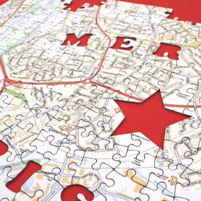 Christmas Personalised Postcode Jigsaw