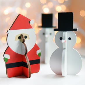 Snowman & Santa Decorations