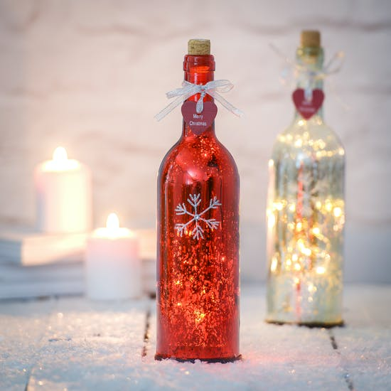 Snowflake Firefly LED Bottle
