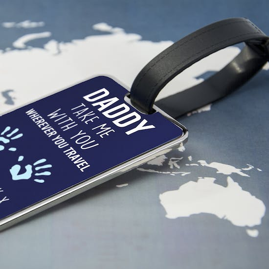 'Daddy Take Me With You' Luggage Tag