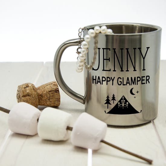 Glamping Personalised Outdoor Mug